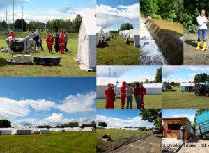 Aufbauarbeiten des Landesjugendlager in Andorf
